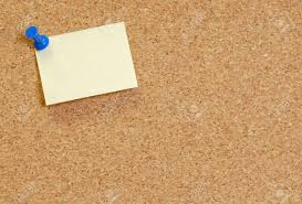 Image result for cork board with a note