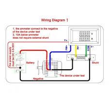 dc digital voltmeter ammeter dual led color in w shunt 50a dc digital voltmeter ammeter dual led color 2in1 w shunt
