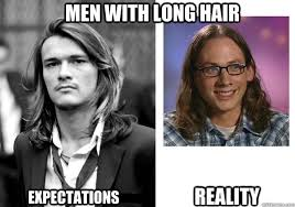 Men with long hair memes | quickmeme via Relatably.com