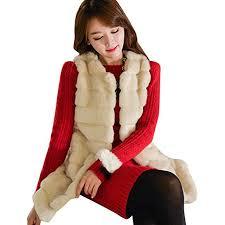 Buy Sttech1-women clothes <b>Girl's Warm Faux</b> Fur Sleeveless Vest ...