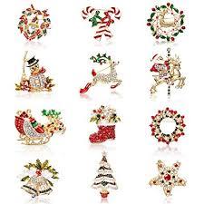 Hicarer 12 Pieces Enamel Christmas Brooch Pins ... - Amazon.com