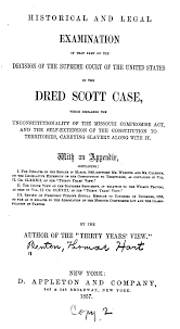 slaves and the courts to library of congress historical and legal examination of that part of the decision of the supreme court of the