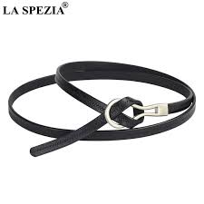 <b>LA SPEZIA</b> Thin <b>Belts</b> For Women Black Leather <b>Belts</b> Dress Ladies ...