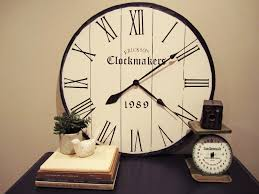 extra large round black and blank wall clock frei