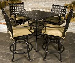 bar height patio chair: outdoor bar table decor bar height patio table and chair sets is