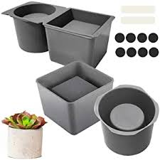 2 Pack Silicone Planter Mold, Concrete Molds for ... - Amazon.com