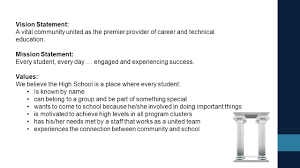 plc implementation 101 north east south west ppt vision statement a vital community united as the premier provider of career and technical education