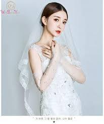 Women's White Long Sleeves Bridal Gloves <b>2019 New Arrival</b> ...