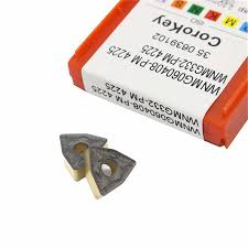 sandv high quality lathe tool dcmt11t308 pm4225 carbide internal turning tool r0 8 cnc semi finishing