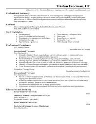 sample ot resume template sample ot resume occupational therapy cover letter