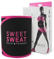 <b>Sweet Sweat Waist Trimmer</b> (Pink Logo) for Men & Women. Includes ...