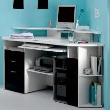 elegant blue color wall home black desks for home office