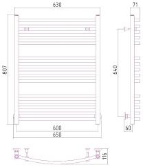 <b>Водяной полотенцесушитель Сунержа Аркус</b> 800x600 — купить ...