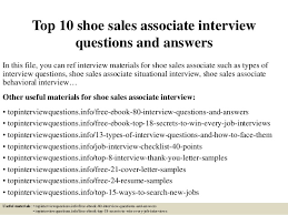 top  shoe  s associate interview questions and answerstop  shoe  s associate interview questions and answers in this file