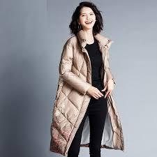 2019 <b>YNZZU Luxury 2018 Winter</b> Women'S Down Jacket Elegant ...