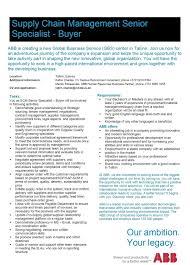 cv keskus t ouml ouml pakkumine abb is recruiting supply chain management toumloumlpakkumise number