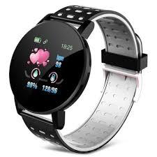 <b>119Plus</b> Smart Watch <b>Sports</b> Pedometer Heart Rate Bracelet Dual ...