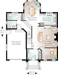Roomy Hous Plan   Mansard Roof   DR   CAD Available    Floor Plan