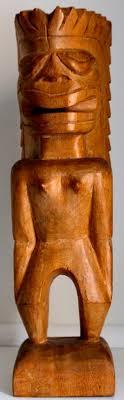 crossbones outdoor tiki bar skulled vintage wooden figurine large tiki statue tiki bar by earthstrove