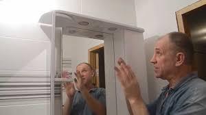 Устанавливаем шкаф-<b>зеркало</b> в ванной ч.1 - YouTube