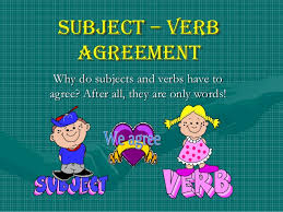 Image result for subject verb agreement