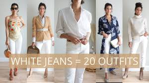 20 Ways to Style <b>One Pair</b> of White Jeans | Slow <b>Fashion</b> | How to ...