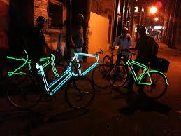 EL Wire on bike frames