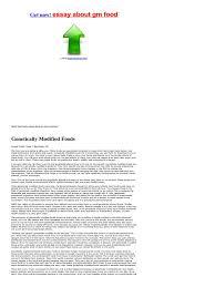 argumentative essay genetically modified fooddescription     SlideServe co uk
