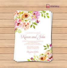 vintage floral border invitation template ← printable invitation kits the document prints two 5×7 invitation cards trim marks that will guide you where to cut off the excess paper the template for by