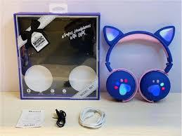 Wireless <b>Bluetooth Headphone</b> On-Ear With Ears And Lights <b>Bk1</b> ...