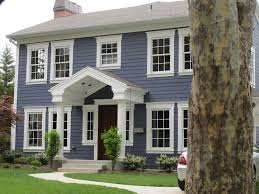 Modern Exterior Paint Colors For Houses Blue Siding Wood Doors - Black window frames for new modern exterior