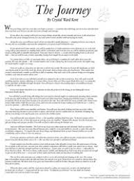 the journey   by crystal ward kent   celebrating your companion one essay that has touched many quot