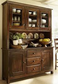 rustic hutch dining room: beautiful rustic wooden hutch i like something like this or with a small section