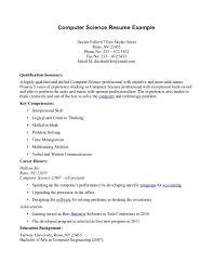 Computer Science Resume Bachelor Of Computer Science Resume      Bachelor Degree In Computer Science Resume   Sales   Computer Computer Science Resume Exle For Bachelor