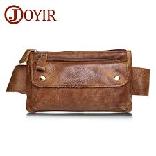 <b>Joyir Genuine Leather Men</b> Waist Packs Travel Chest Bag Unisex ...