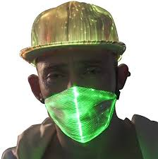 AIGO2C <b>LED</b> Dust <b>Mask</b> 7 Glow Color <b>Rave Masks</b>, <b>Light Up</b> Party ...