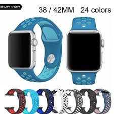 <b>BUMVOR</b> Soft <b>Silicone</b> Wristband for Apple Watch Series 4 3 2 1 ...