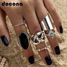 <b>docona Bohemian Gold Color</b> Earth Letter Infinite Bracelet Set for ...