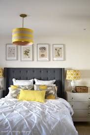 yellow and gray bedroom: yellow and gray bedroom headboard cottage bedrooms yellow and gray