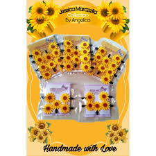 SUNFLOWER CLIPPIE SETS SMALL AND LARGE ( <b>5pcs</b> / <b>10pcs</b> ...