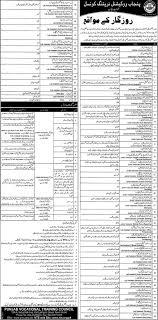 nts punjab vocational training council jobs latest nts punjab vocational training council jobs 2014 latest advertisement