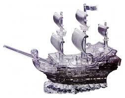 <b>3D</b>-<b>пазл Crystal Puzzle</b> Пиратский корабль (91106), 101 дет ...