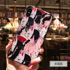 <b>Japan Anime Fox</b> Embossed Soft Shell For iphone 6 6S 7 8 PLUS ...
