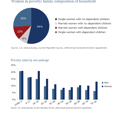 the pie chart shows the percentage of women in poverty and the bar  images for the essay
