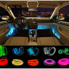 <b>JURUS 5Meters Car Interior</b> Lighting Led Lights For Auto Flexible El ...