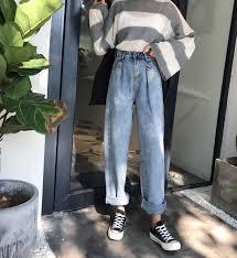GUUZYUVIZ Loose <b>Vintage Woman</b> Jeans <b>2017 Autumn</b> Bleached ...