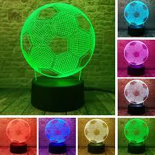 <b>3D</b> Stylish LED Lamp Touch Sensor <b>Football</b> Shaped <b>3D Night Light</b> ...