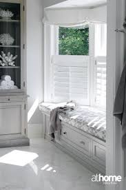 bay window blinds ideas bathroom storage