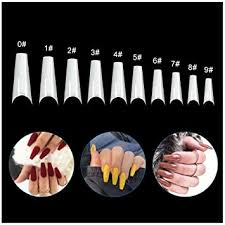 Buy <b>500Pcs</b>/Box <b>Artificial Nails French</b> False Half Nail Art Tips ...