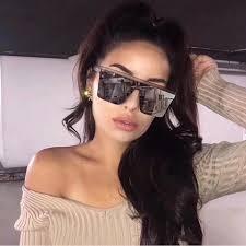 Buy Online New Black Square <b>Sunglasses</b> Women <b>Big Frame</b> ...
